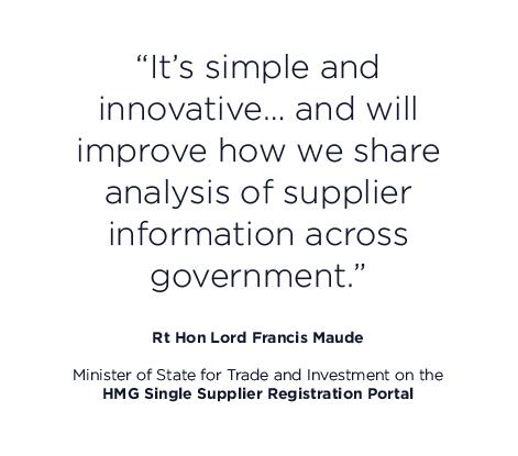 Supplier registration portal quote